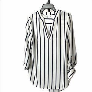 SOHO Navy & White Stripe Blouse
